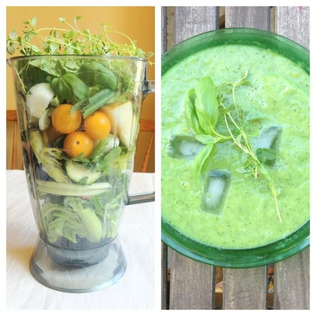 Grön gazpacho