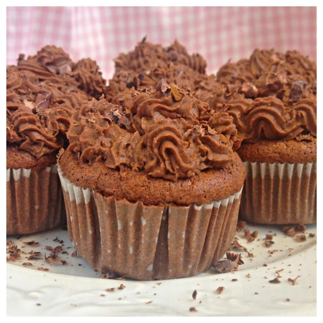 glutenfria cupcakes choklad