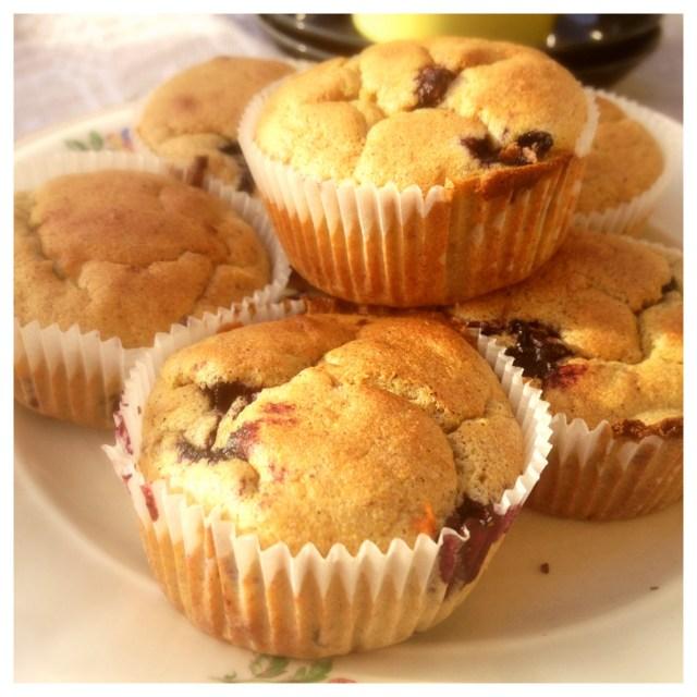 Hälsosamma bananmuffins med blåbär och bovete (gluten, mjölk och sockerfria) 1