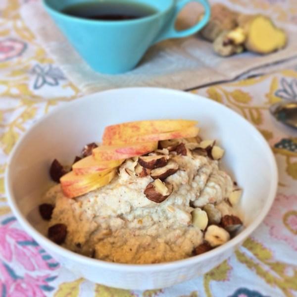 rawfood gröt med groddad quinoa