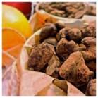 Apelsinchoklad doppade nötter