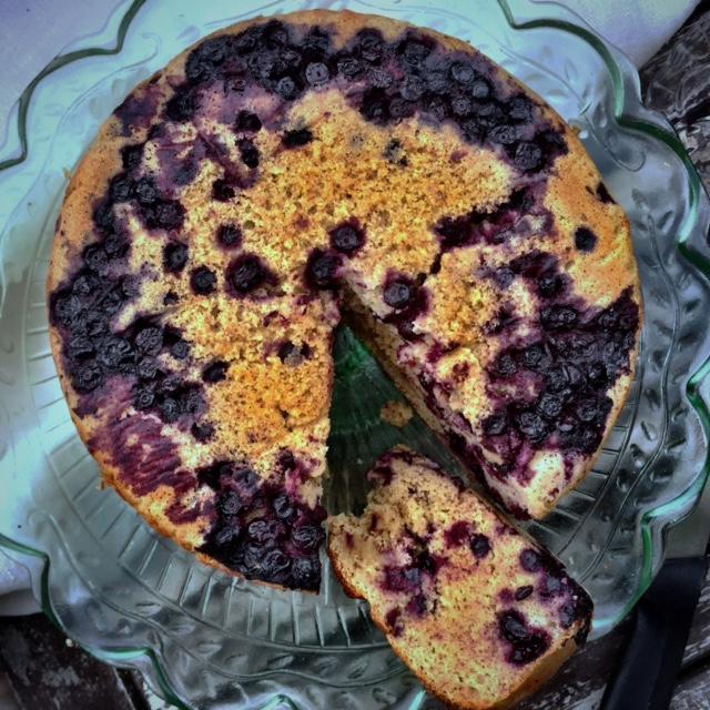Blåbär och citronkaka (glutenfri, mjölkfri, sockerfri)