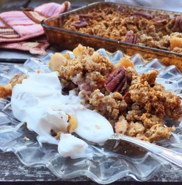 Äppelpaj med pecannötter (glutenfri, mjölkfri, vegan, sockerfri)2