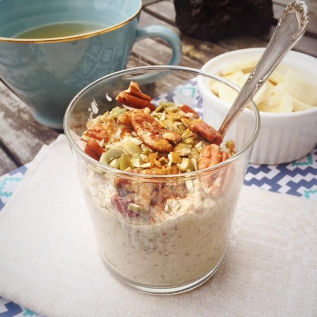 overnight oats med kardemumma