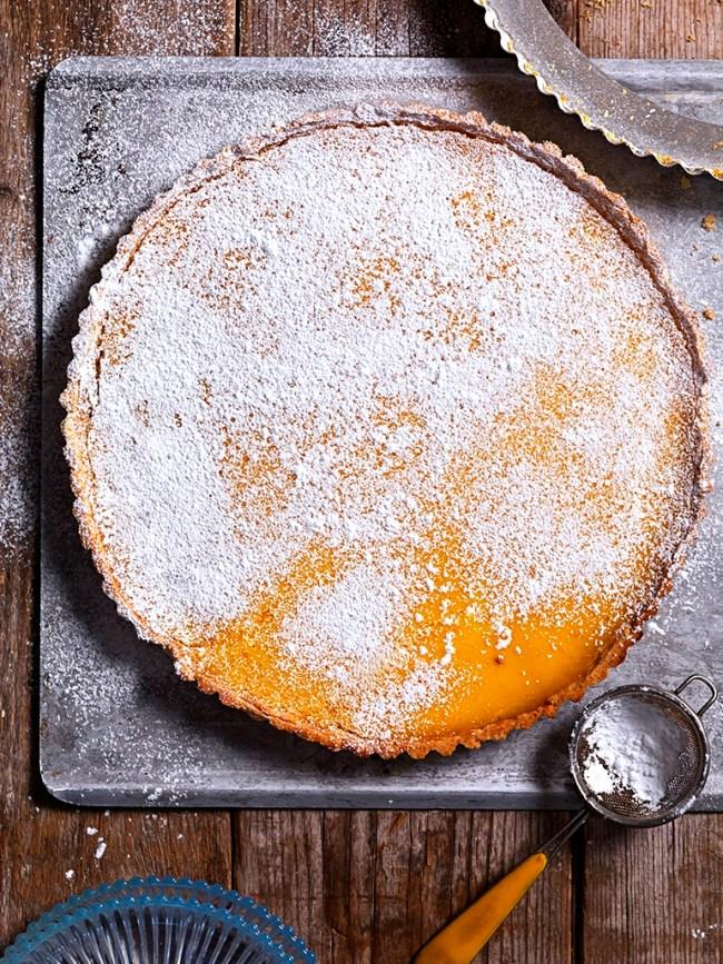 Tarte aux citron (glutenfri, mjölkfri, utan vitt socker)