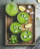 green smoothie tray