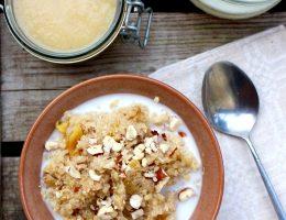 quinoagröt med äpple