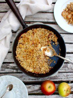 Äppelpaj - glutenfri smulpaj utan vitt socker