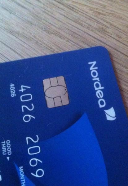 Jonathans første betalingskort