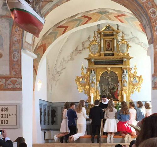 Jonathans konfirmation – kirken