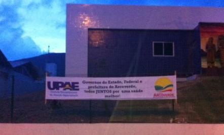 Faixa lembra parceria Federal na Upa