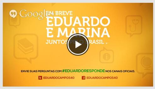Clique na imagem e tenha acesso ao link que transmite via Google o lançamento das candidaturas de Eduardo e Marina