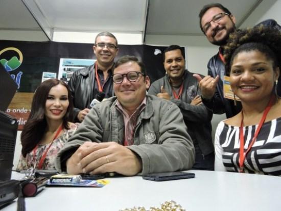 Com Juliana Lima, Rodrigo Lima, Evandro Lira, Cláudio Gomes e Michelli Martins - Estúdio 2 Rádio Pajeú - Expoagro 2015