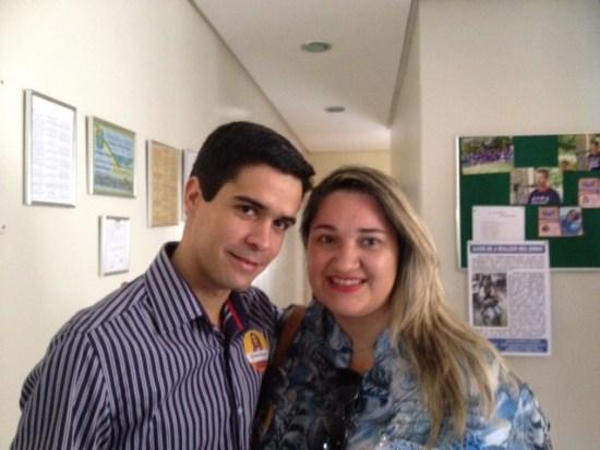Aline e o Suplente de vereador em Salgueiro Danilo Parente