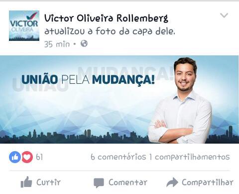 Victor: mudando para status de candidato