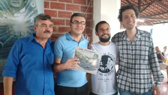 Ésio Rafael, este blogueiro, Antonio Marinho e o músico Lucas Oliveira