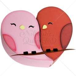 Caixa Coração Love Bird