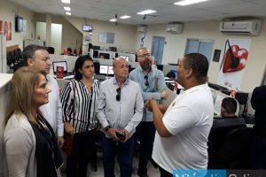 Diretor do Hospital Municipal de Nilópolis visita a Central de Regulação do SAMU