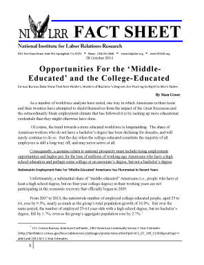 NILRR Fact Sheet -- College-Educated and 'Middle-Educated' Employee web_Page_1