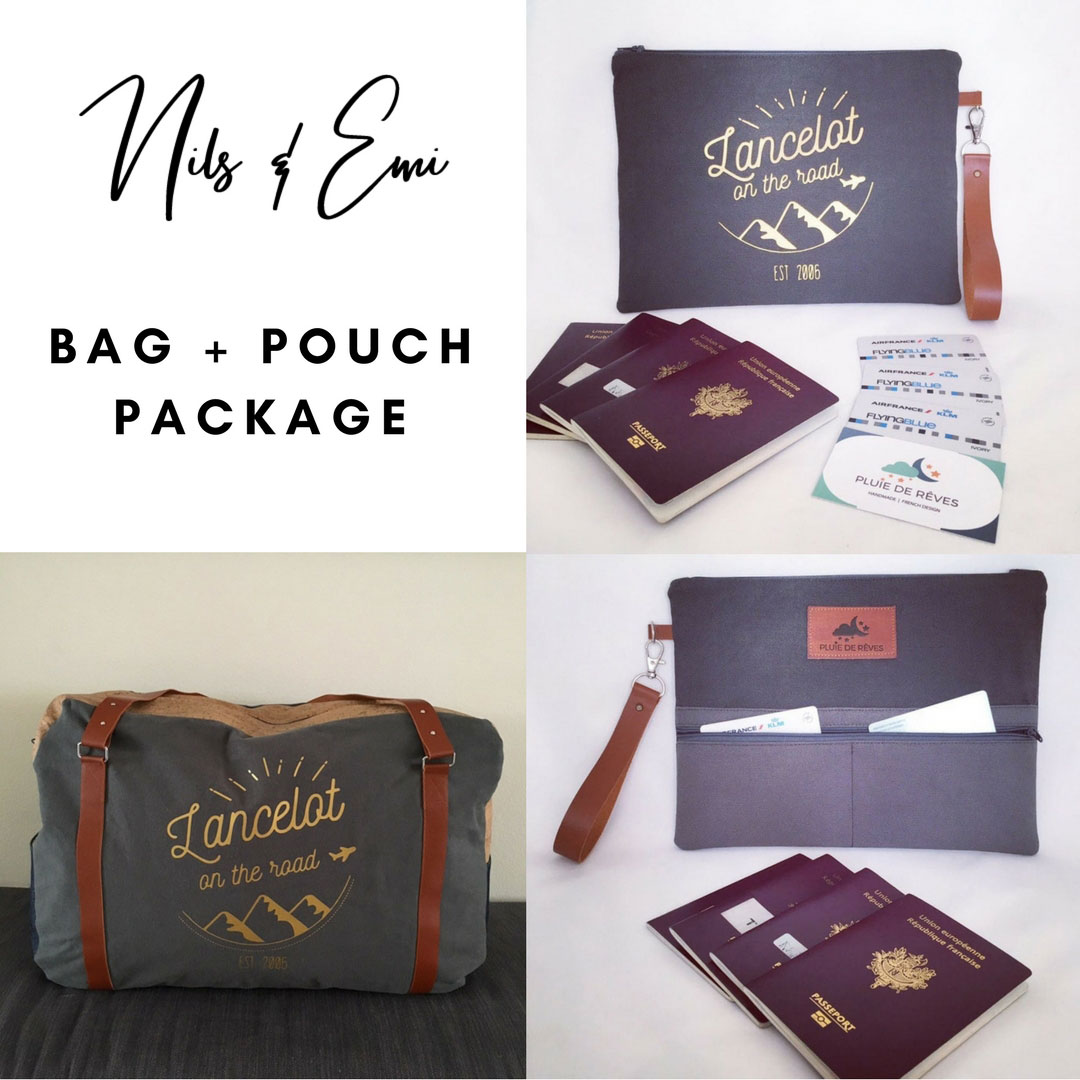 nils & emi customisable travel pouch and bag