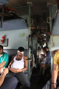 transports en Inde, train en sleeper
