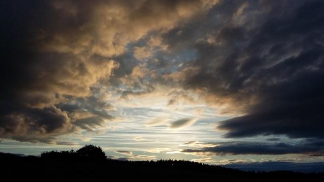 Morvan, coucher de soleil