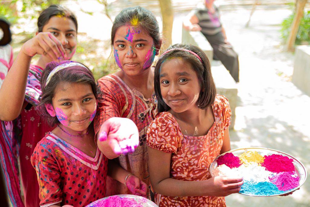 Holi Fest Farben Indien
