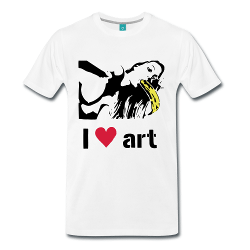 I love (heart) art stencil t-shirt