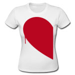 Half Heart T-Shirt Women