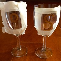 Personalized wine glasses!