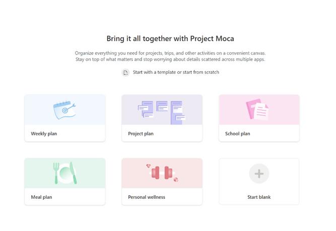 Project Moca Launch screen
