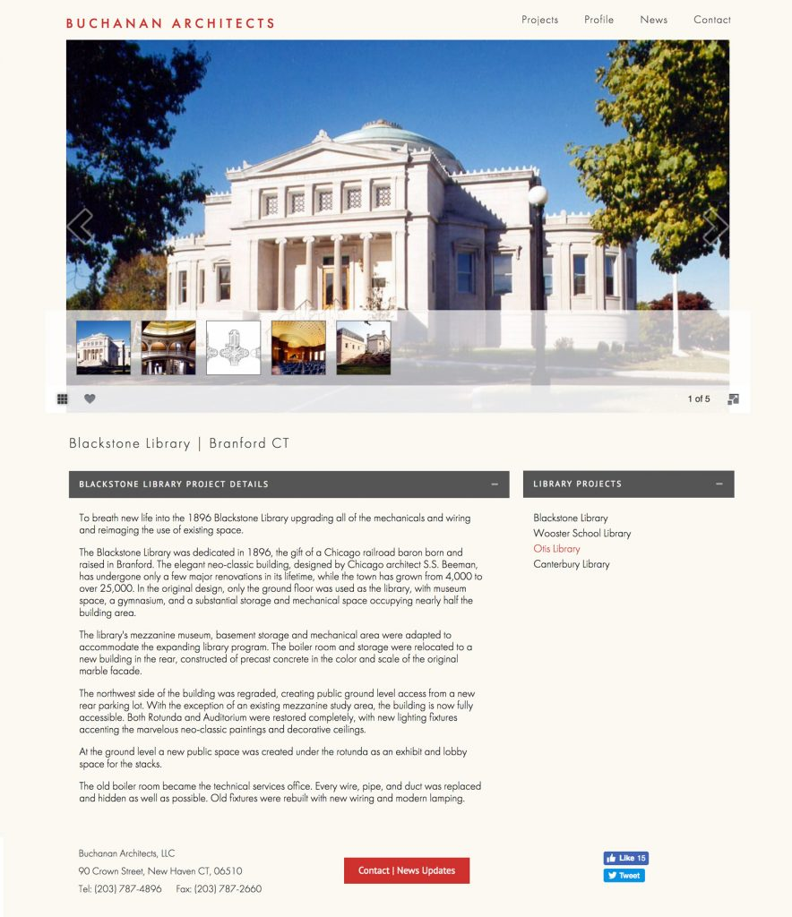 Architect Website by Halagan Design
