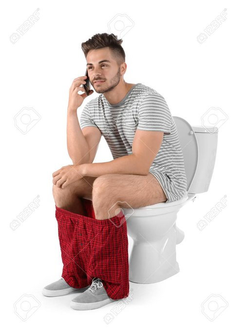Using phone while pooping can cause you to develop piles
