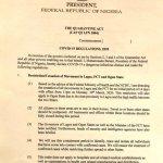 Nigeria's Quarantine Act