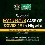 Second case of coronavirus confirmed in Nigeria