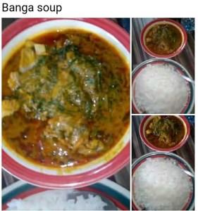 Does banga soup contain cholesterol?
