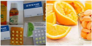 Can multivitamin + Vitamin C + Fruits + lemon + milk be taken with antimalarial?