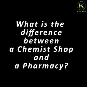Difference between a chemist shop and a pharmacy