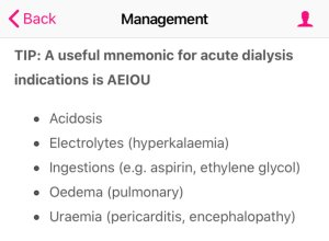 Indications for dialysis