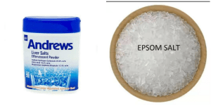 Difference between Epsom salts and Andrews Liver salts.
