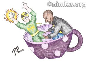 Daily Creativity: Iron Fist & Luke Cage on the Tea Cup ride