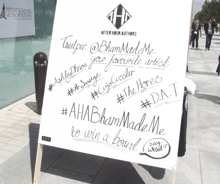 using trade show hashtags