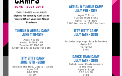 NIMOLI SUMMER CAMPS 2018