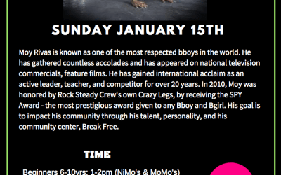 Moy Rivas Master Class January 15th