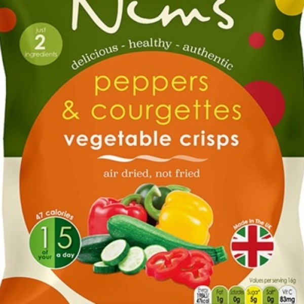 Peppers & Courgettes Vegetable Crisps - Single Pack