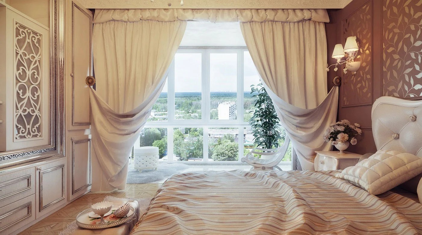 20 Beautiful Curtain Ideas for the Bedroom on Beautiful Bedroom Curtains  id=70855