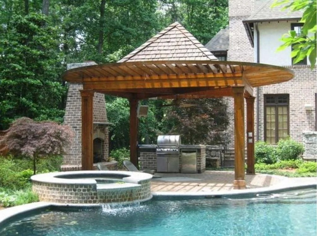 20 Gorgeous Poolside Outdoor Kitchen Designs on Outdoor Kitchen By Pool id=38721