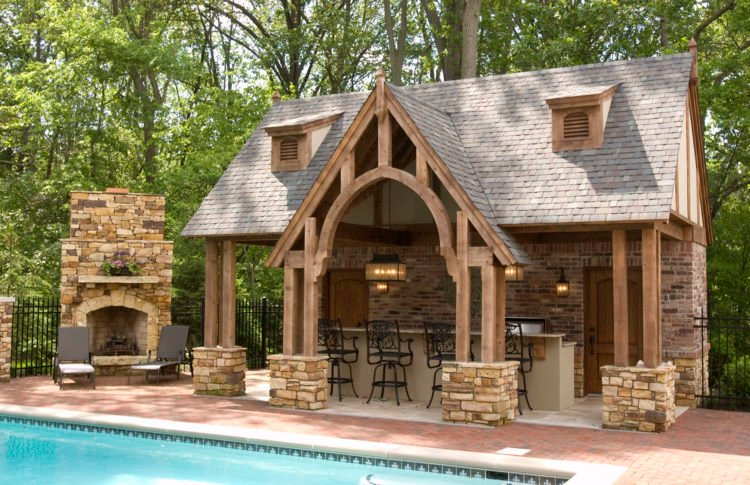 20 Gorgeous Poolside Outdoor Kitchen Designs on Outdoor Kitchen With Pool Ideas id=47166