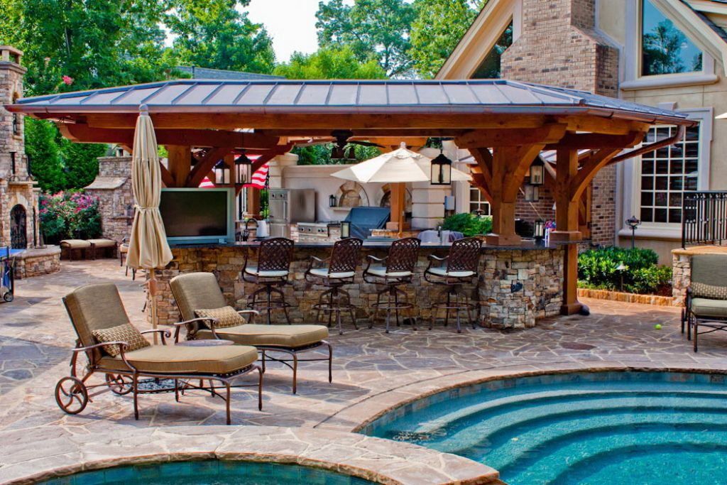 20 Gorgeous Poolside Outdoor Kitchen Designs on Outdoor Kitchen By Pool id=62415