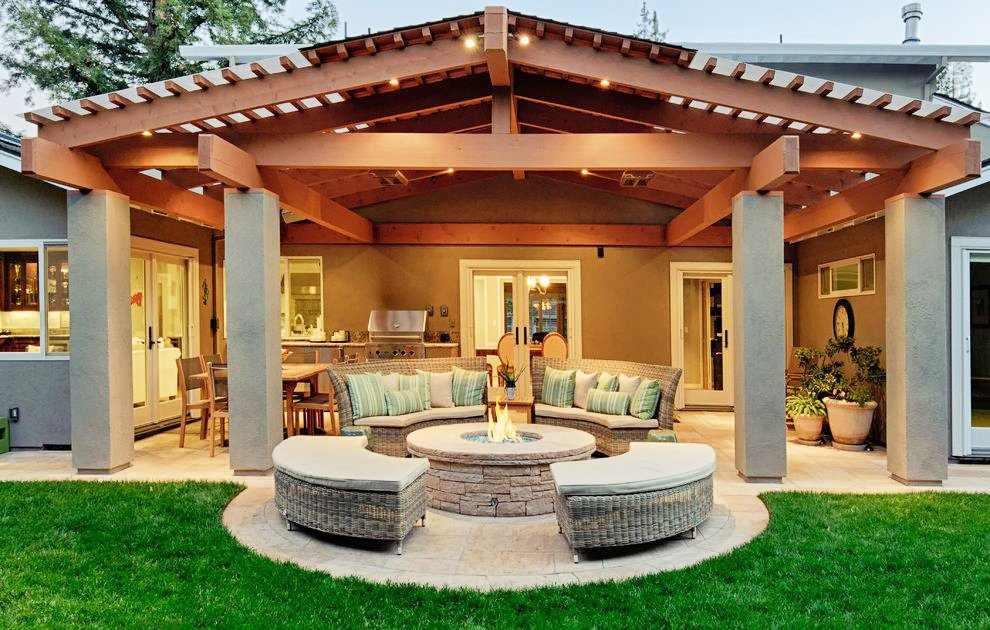 20 Beautiful Outdoor Fire Pit Ideas on Backyard Patio With Firepit id=67490